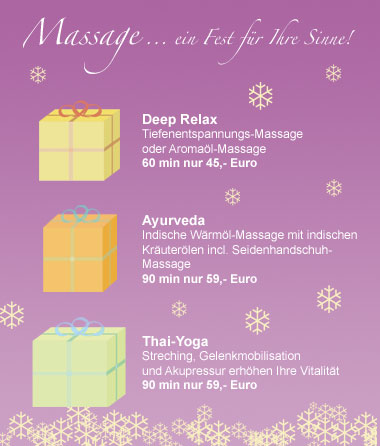 Deep Relax Massage, Ayurveda-Massage, Thai-Yoga-Massage
